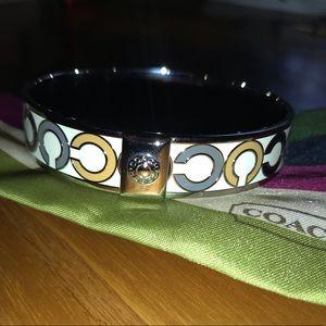 Coach white enamel bracelet
